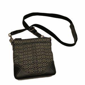 Coach authentic crossbody bag purse black